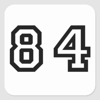 Number Eighty Four Square Sticker