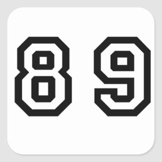 Number Eighty Nine Square Sticker