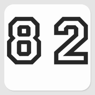 Number Eighty Two Square Sticker