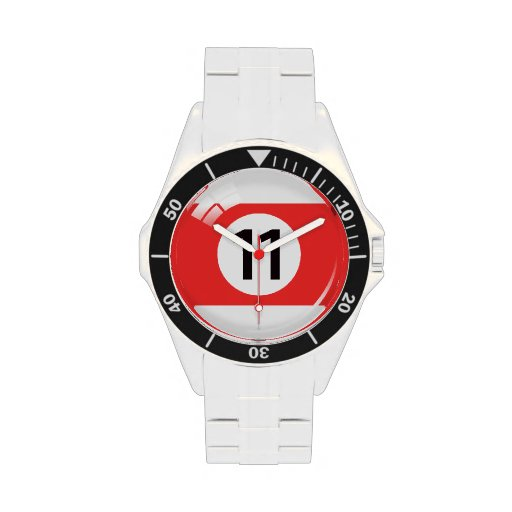 Number eleven pool / billiard ball wristwatches