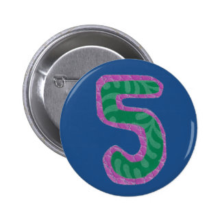 Number Five Button