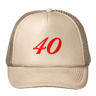 Number Forty 40th Birthday Gifts Cap