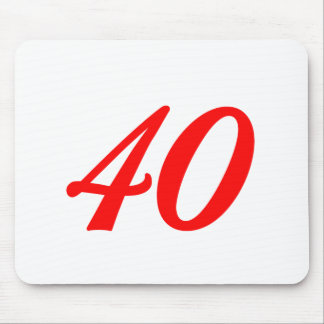 Number Forty 40th Birthday Gifts Mouse Pad