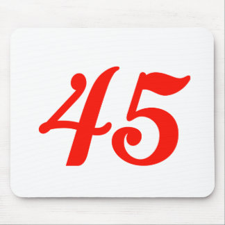 Number Forty-five 45th Birthday Gifts Mouse Pad