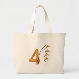Number four jumbo tote bag