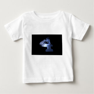 Number four is my favorite number and I wrote it. Baby T-Shirt