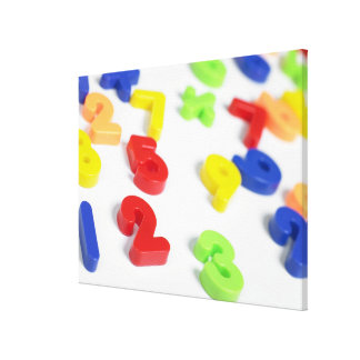 Number magnets gallery wrapped canvas