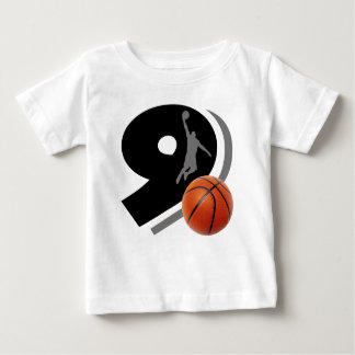 Number Nine Basketball and Player Baby T-Shirt