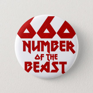Number of the Beast 6 Cm Round Badge