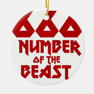 Number of the Beast Ceramic Ornament