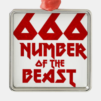Number of the Beast Metal Ornament