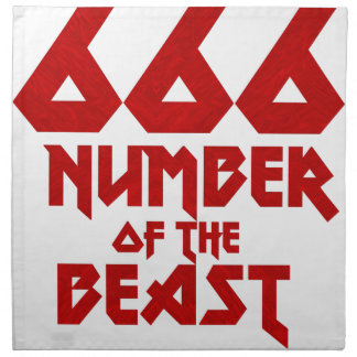 Number of the Beast Napkin