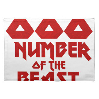 Number of the Beast Placemat