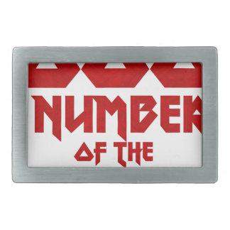 Number of the Beast Rectangular Belt Buckle