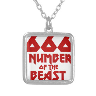 Number of the Beast Silver Plated Necklace