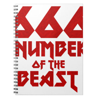 Number of the Beast Spiral Notebook