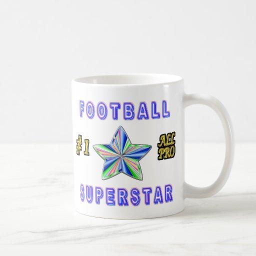 Number One All Pro Football Superstar Mug