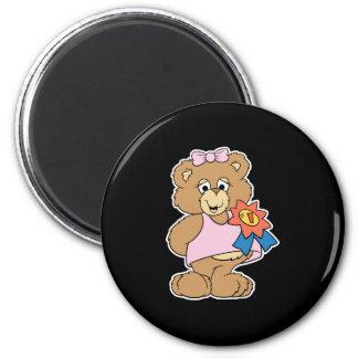 Number One Award Girl Bear Magnet