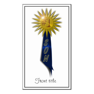 Number One Blue Ribbon For Son Pack Of Standard Business Cards