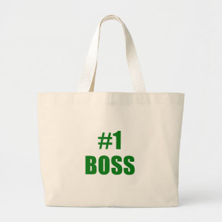 Number One Boss Tote Bags