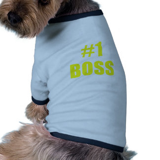 Number One Boss Dog T-shirt