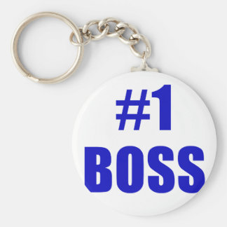Number One Boss Keychain