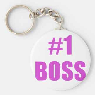Number One Boss Keychains