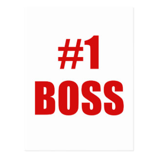 Number One Boss Postcard