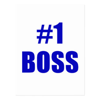 Number One Boss Postcards