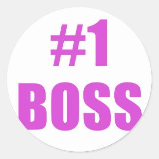 Number One Boss Sticker