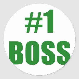 Number One Boss Stickers