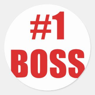 Number One Boss Round Sticker
