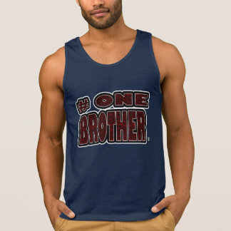 Number One Brother Red Worded T-Shirts