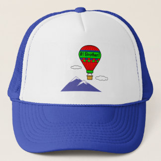 Number One Brother with Hot Air Balloon Trucker Hat