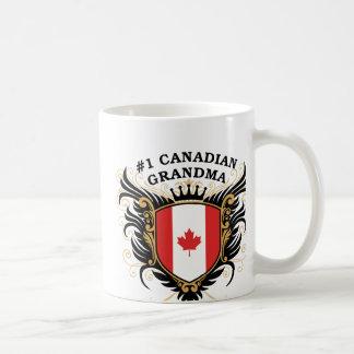 Number One Canadian Grandma Basic White Mug