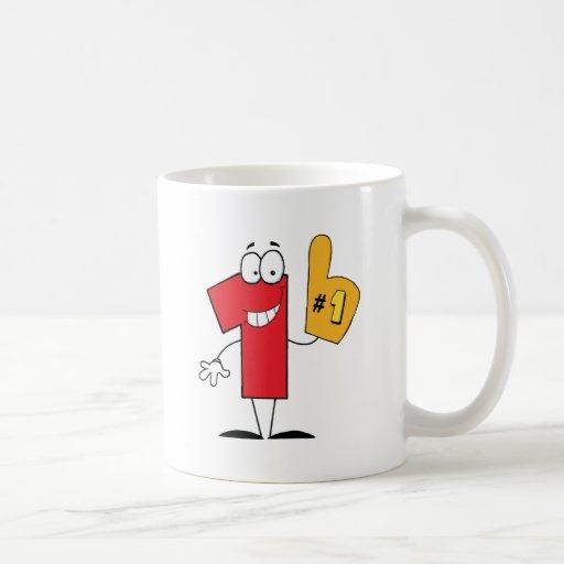 Number One Cartoon Character Mug