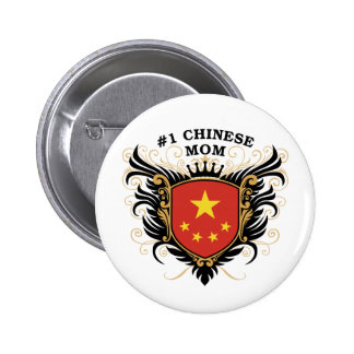 Number One Chinese Mom 6 Cm Round Badge