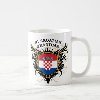 Number One Croatian Grandma Basic White Mug