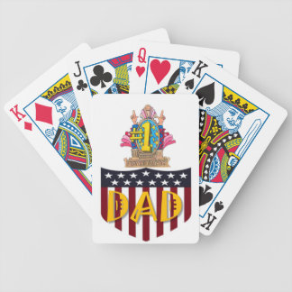 Number One Dad Bicycle Playing Cards