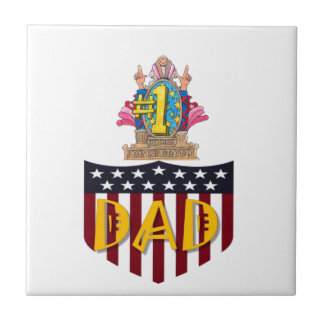 Number One Dad Ceramic Tile