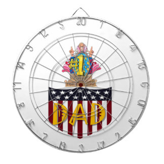 Number One Dad Dartboard
