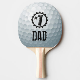 Number one Dad/Mum/Son... Personalised Golf Ball Ping Pong Paddle