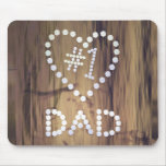 Number One Dad on Wood Mouse Pads