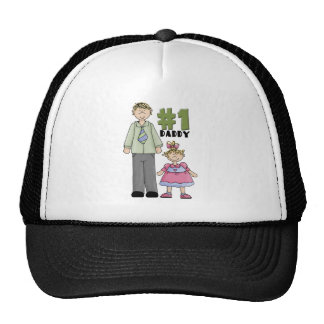 Number One Daddy Blond Girl  Mesh Hat