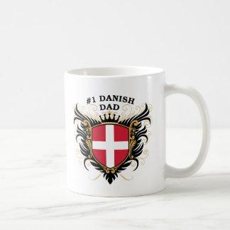 Number One Danish Dad Basic White Mug