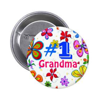 Number One Grandma Button
