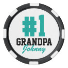 Number One Grandpa Photo Poker Chips