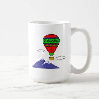 Number One  Grandpa with Hot Air Balloon Coffee Mug