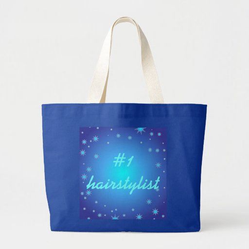 Number One Hairstylist Blue Stars Jumbo Tote Bag