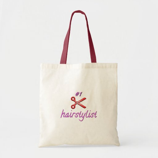 Number One Hairstylist Scissors Budget Tote Bag